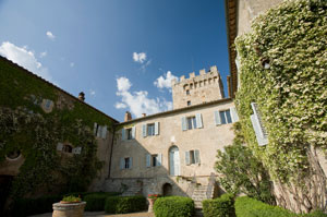 The villa at Spannocchia