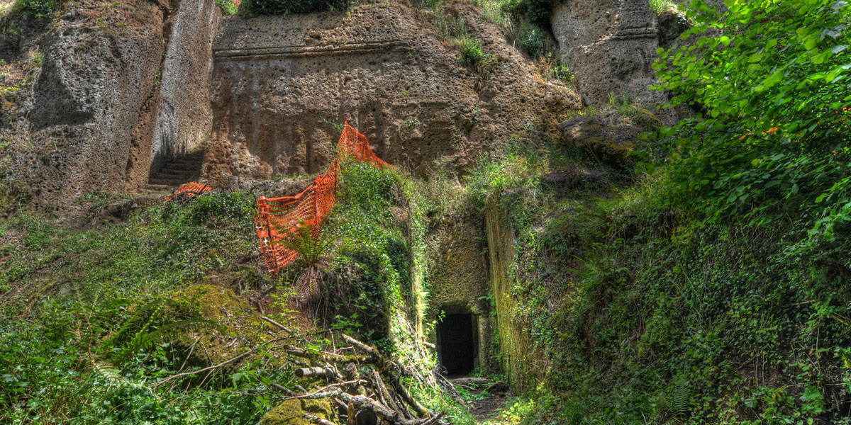 Etruscan excavation